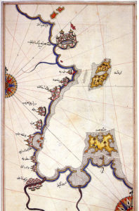 Carte historique de Djerba, par Piri Reis