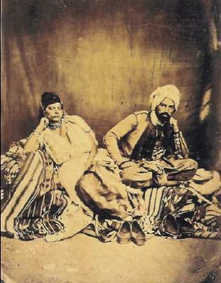 Couple juif d'Algérie vers 1856 – 1858