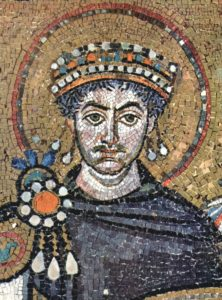 Justinien, empereur byzantin qui lance une sévère répression des Juifs