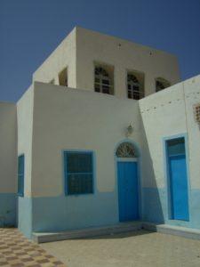 Synagogue des Dightiya à Hara Kbira surmontée d'un tambour comportant douze fenêtres en rappel des douze tribus d'Israël.