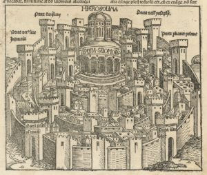 Vue de Jérusalem et du Temple de Salomon