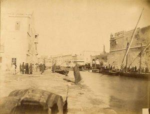 Vue du canal de La Goulette vers 1880